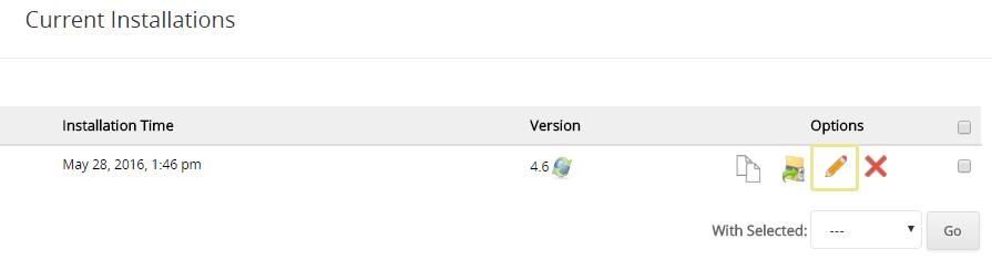 current installation wordpress updates