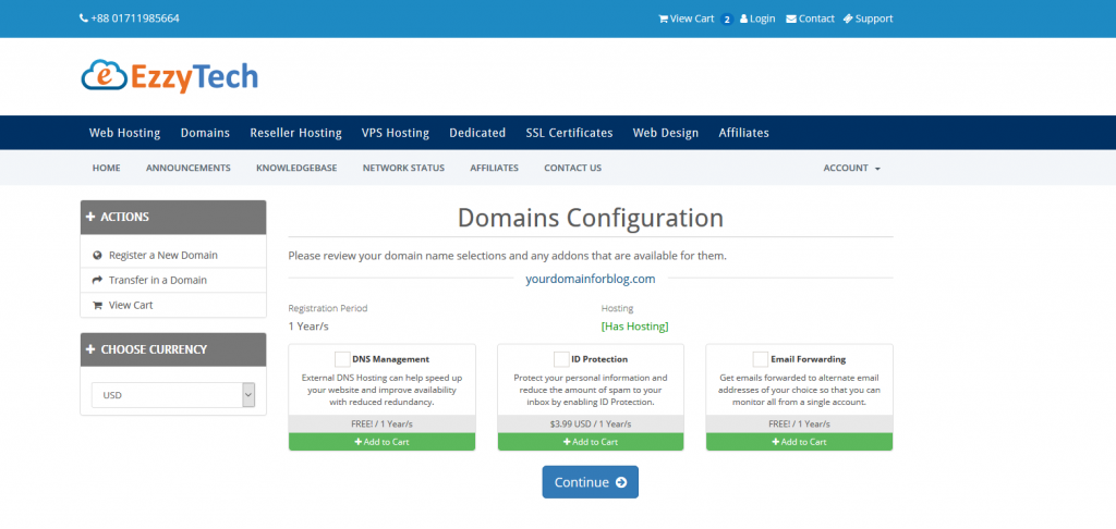 domain addons