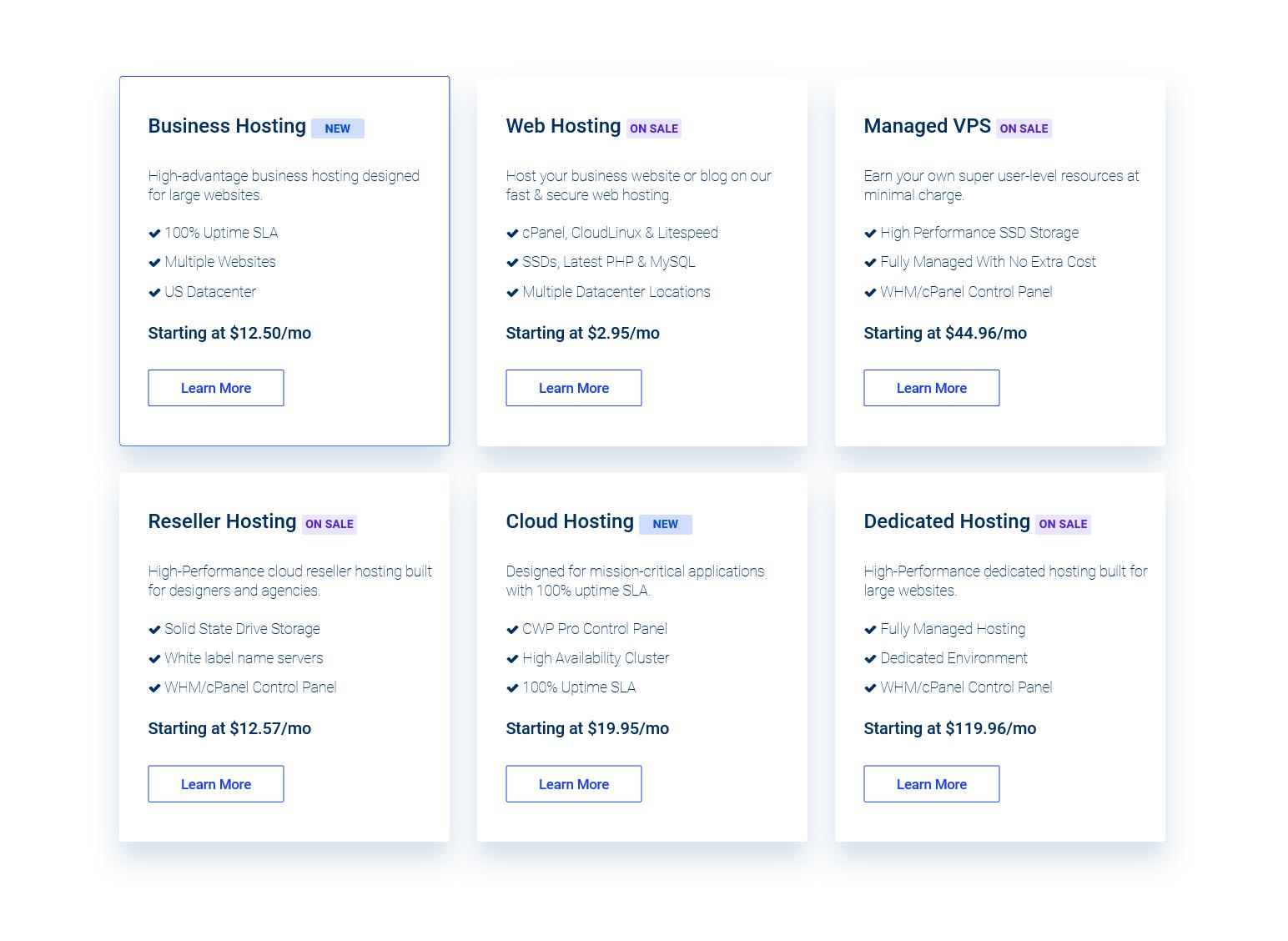 VernalWeb Hosting Plans