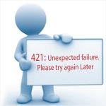 Unexpected failure