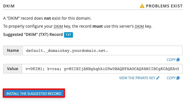 DKIM Install